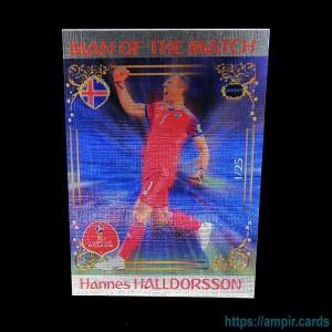 2018 AMPIR FIFA World Cup Soccer #MM42 Hannes HALLDORSSON (Team Iceland) #/25