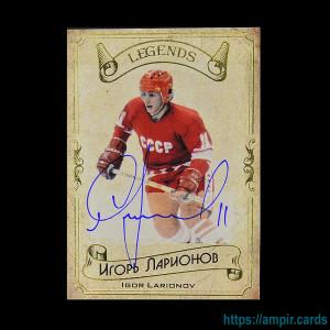 2020 AMPIR Hockey Legends (Serie #1) #17 Igor Larionov autograph #/20