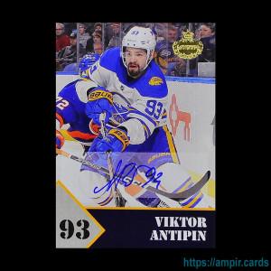 2019/20 AMPIR Hockey #VA1 Viktor Antipin (Buffalo Sabres) autograph #/10