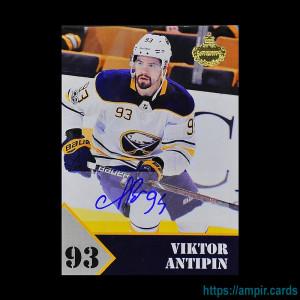 2019/20 AMPIR Hockey #VA2 Viktor Antipin (Buffalo Sabres) autograph #/10